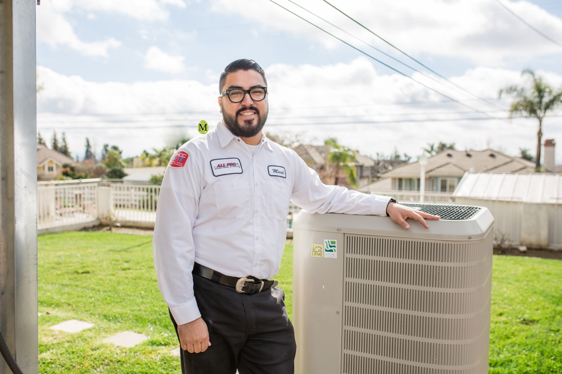 Ontario air conditioning technician from All Pro Plumbing, Heating, Air & Electrical
